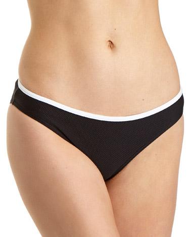 black-whiteContrast Hi Leg Bikini Bottoms