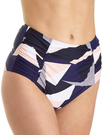 printGeo High Waist Bikini Bottoms