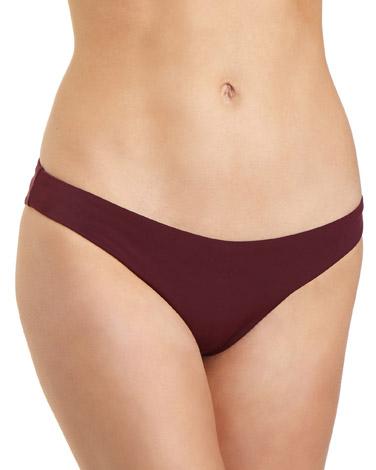 burgundyHigh Leg Bikini Bottoms