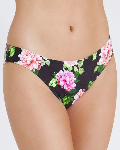 Floral Hi Leg Bikini Briefs
