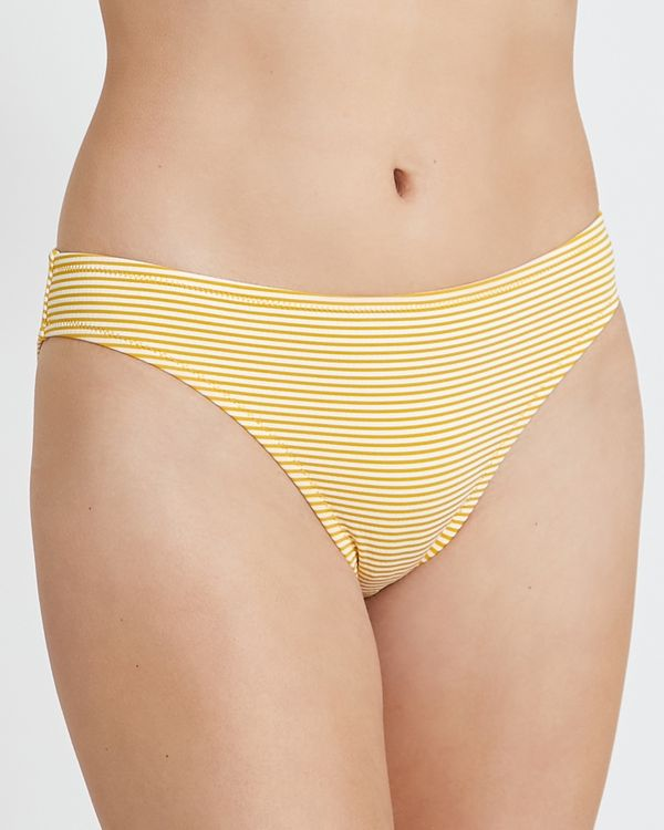 Textured Hi Leg Bikini Bottoms