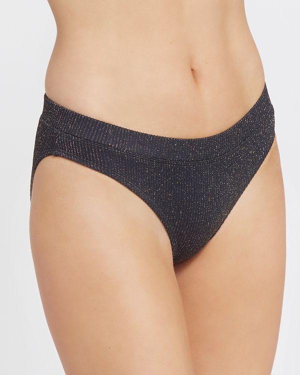 Lurex Hi Leg Bikini Bottoms
