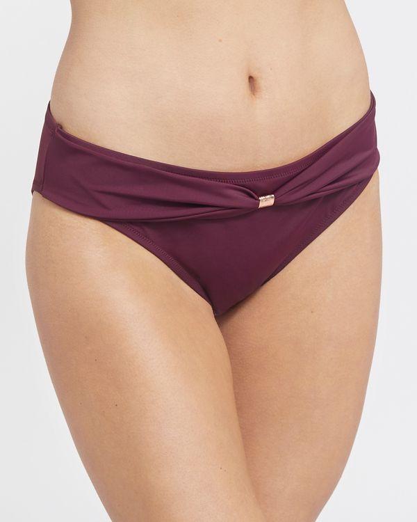 Burgundy Hi Leg Bikini Bottoms
