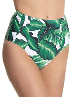 palm-print Palm Print High Waist Bikini Briefs