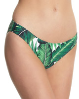 palm-print Palm Print High Leg Bikini Bottoms