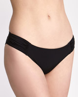 black Ruched Bikini Brief