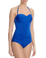 cobalt Ruched Bandeau Swimsuit