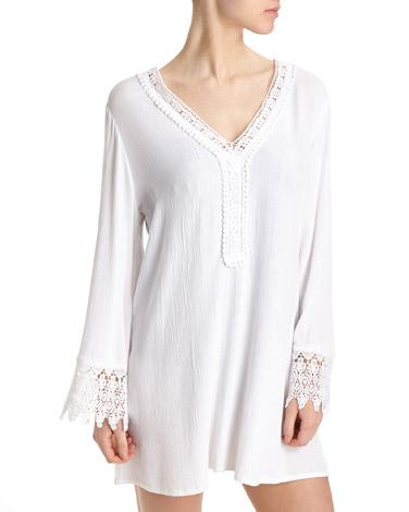 whiteCrochet Kaftan