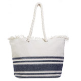 denim Frayed Canvas Tote