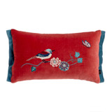 raspberry Carolyn Donnelly Eclectic Embroidered Boudoir Cushion