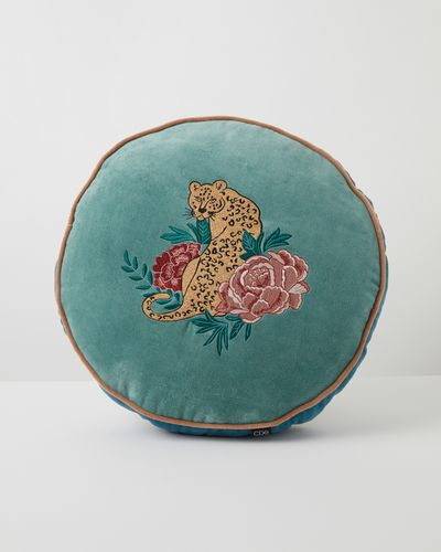 Carolyn Donnelly Eclectic Round Velvet Cushion