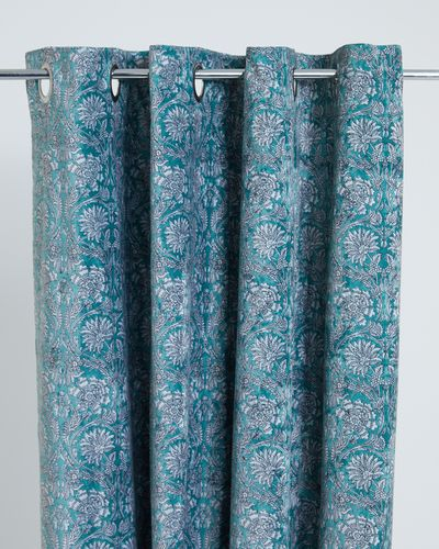 Carolyn Donnelly Eclectic Printed Velvet Curtains