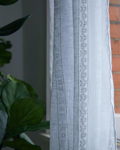 Carolyn Donnelly Eclectic Printed Voile Curtain