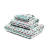 aqua Carolyn Donnelly Eclectic Stripe Hand Towel