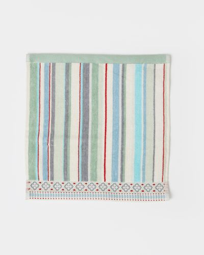 Carolyn Donnelly Eclectic Border Stripe Face Cloth thumbnail