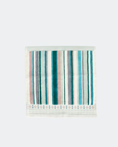 Carolyn Donnelly Eclectic Border Stripe Face Cloth