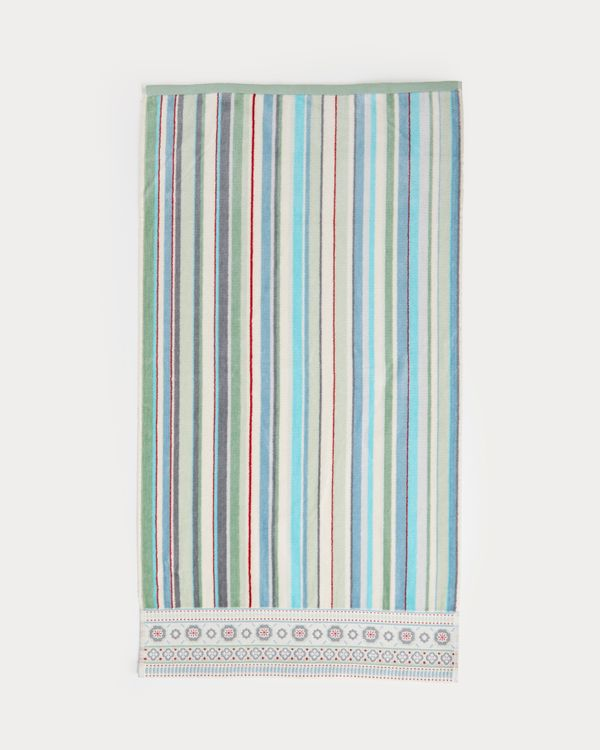 Carolyn Donnelly Eclectic Border Stripe Hand Towel