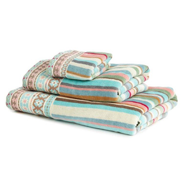 Carolyn Donnelly Eclectic Border Bath Towel