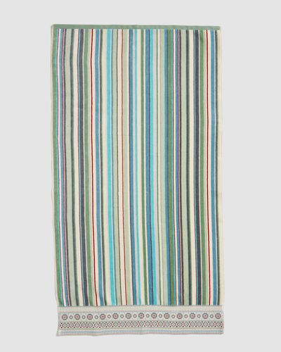 Carolyn Donnelly Eclectic Border Stripe Bath Towel thumbnail