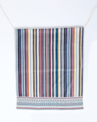 Carolyn Donnelly Eclectic Border Stripe Bath Towel