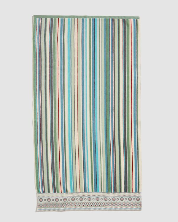 Carolyn Donnelly Eclectic Border Stripe Bath Towel