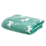 green Carolyn Donnelly Eclectic Dog Towel