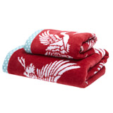 red Carolyn Donnelly Eclectic Crane Hand Towel