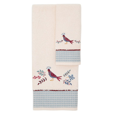 Carolyn Donnelly Eclectic Elisa Embroidered Guest Towel