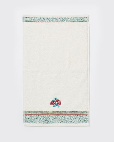 Carolyn Donnelly Eclectic Cheetah Embroidered Guest Towel