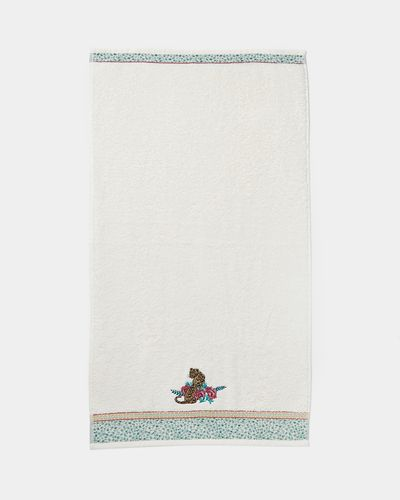 Carolyn Donnelly Eclectic Cheetah Embroidered Hand Towel