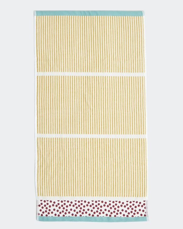 Carolyn Donnelly Eclectic Stripe Velour Hand Towel