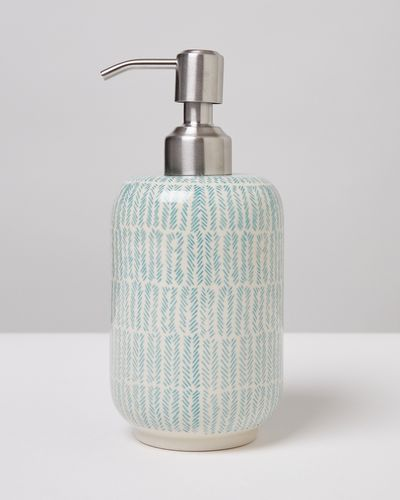 Carolyn Donnelly Eclectic Chevron Ceramic Soap Dispensor