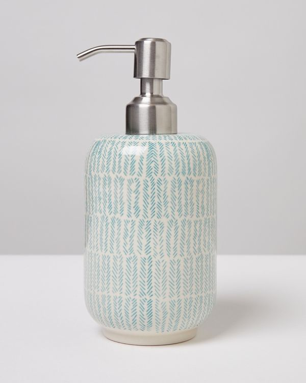 Carolyn Donnelly Eclectic Chevron Ceramic Soap Dispensor