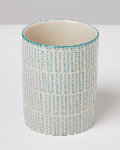 Carolyn Donnelly Eclectic Chevron Ceramic Tumbler