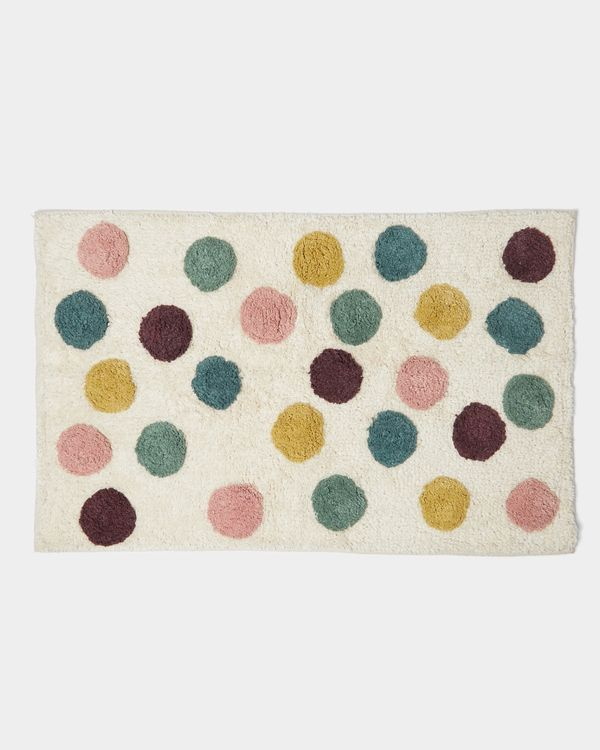 Carolyn Donnelly Eclectic Dotty Tufted Bath Mat