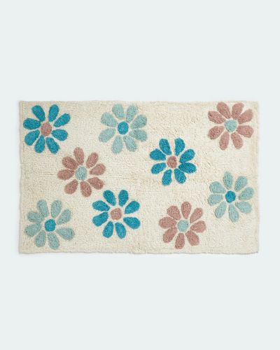 Carolyn Donnelly Eclectic Flower Tufted Bathmat