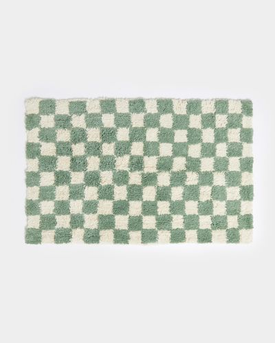 Carolyn Donnelly Eclectic Check Tufted Bathmat