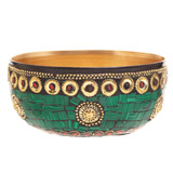 green Carolyn Donnelly Eclectic Mosaic Bowl