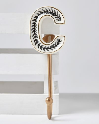 Carolyn Donnelly Eclectic Alphabet Ceramic Hook thumbnail
