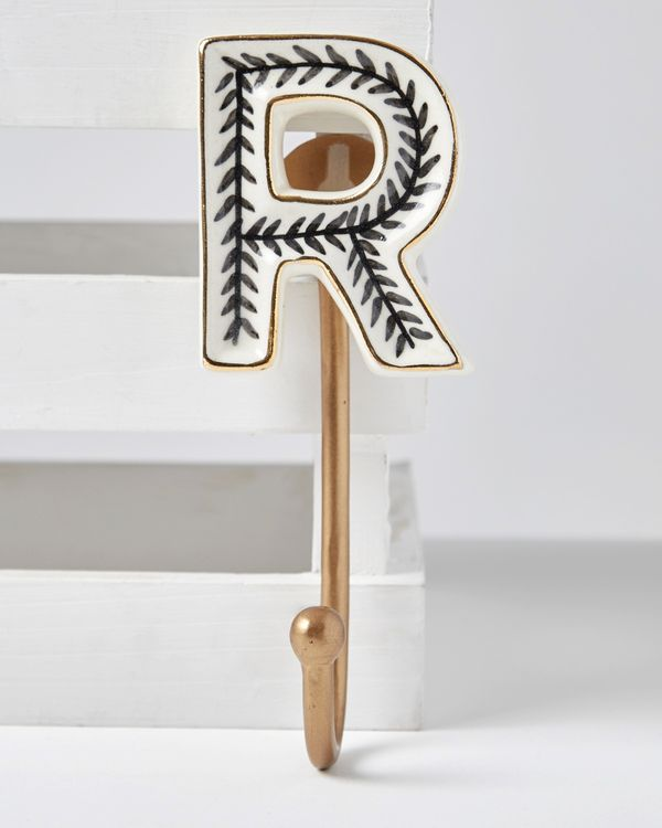 Carolyn Donnelly Eclectic Alphabet Ceramic Hook
