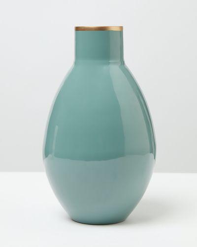 Carolyn Donnelly Eclectic Large Enamel Vase thumbnail