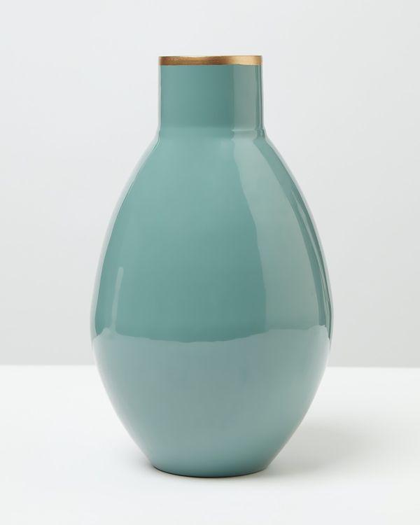 Carolyn Donnelly Eclectic Large Enamel Vase