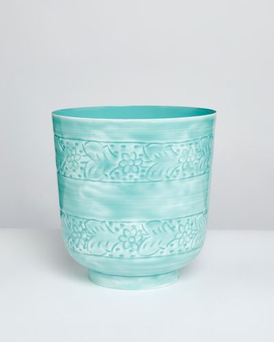Carolyn Donnelly Eclectic Enamel Planter
