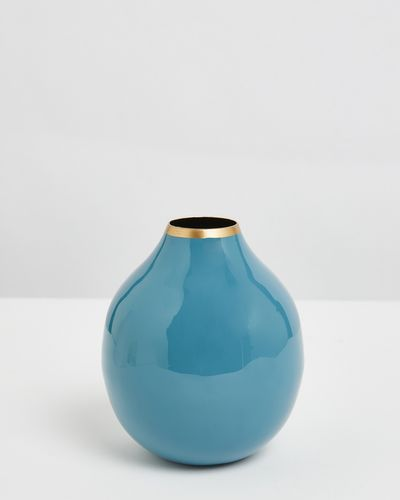 Carolyn Donnelly Eclectic Small Enamel Vase