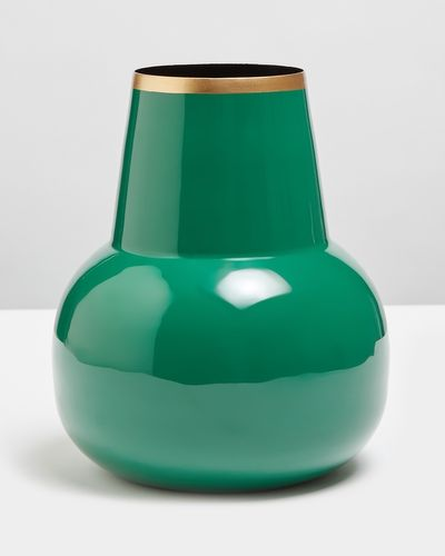 Carolyn Donnelly Eclectic Extra Large Enamel Vase
