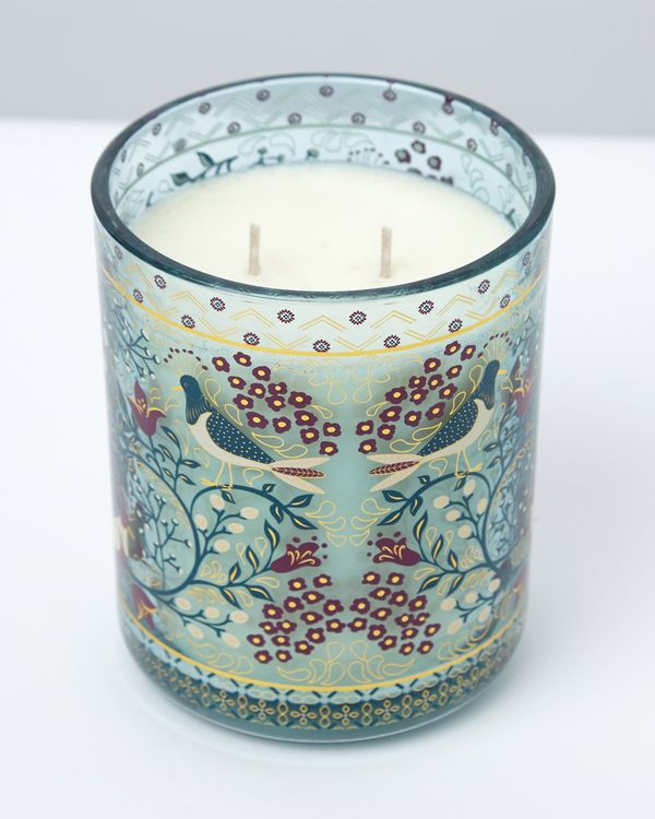 Carolyn Donnelly Eclectic Bird Decal Two Wick Candle