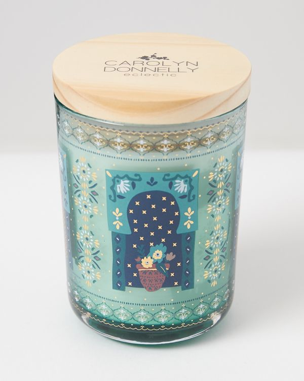 Carolyn Donnelly Eclectic Wood Lid Candle