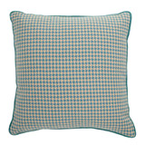 blue Carolyn Donnelly Eclectic Houndstooth Cushion