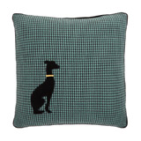 blue Carolyn Donnelly Eclectic Dog Houndstooth Cushion
