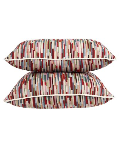 Carolyn Donnelly Eclectic Geo Stripe Cushion